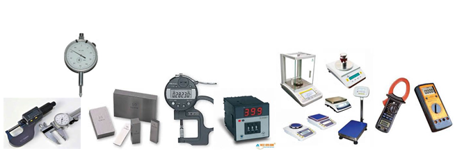 Different kinds of instruments for calibration