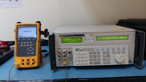 Calibration set-up using a Multiproduct Calibrator