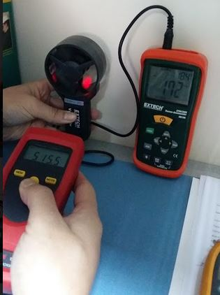 How to Verify the Accuracy of Extech Thermo Anemometer Using a Digital Tachometer