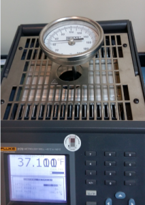 Dial thermometer Calibration Setup