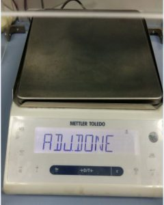 weighing scale adjustment