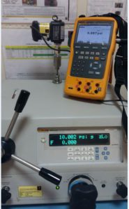 Pressure Module calibration using fluke 754 as the display