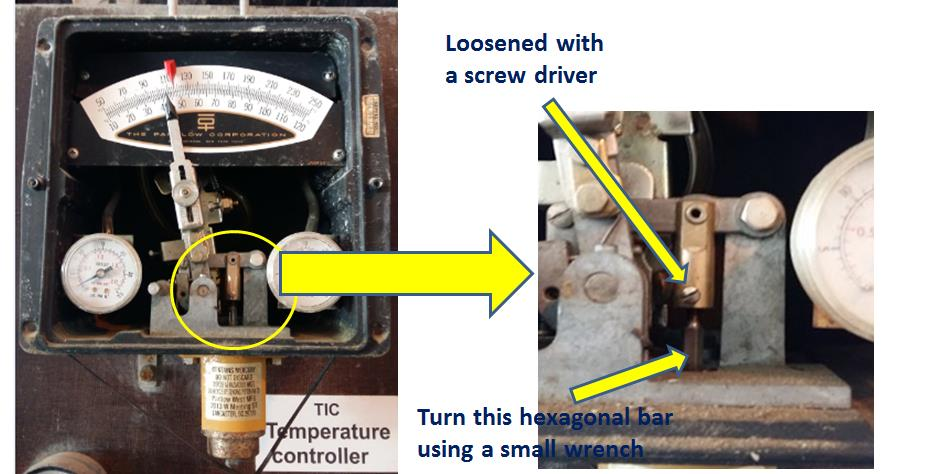 Temperature Switch adjustment location