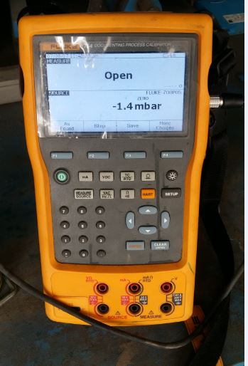 Open and Close display for Pressure switch calibration