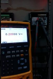Fluke 754 used to simulate a mV signal to the pH/ORP meter