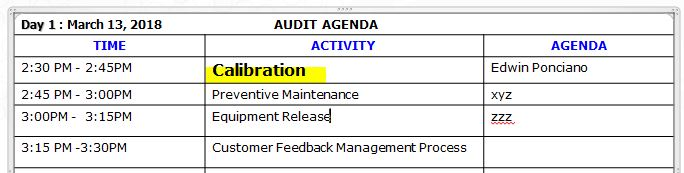 Calibration Audit Questions and Audit Sequence That We Need to Know