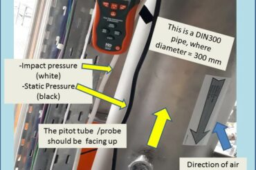 How to Calibrate and Verify the Air Velocity and Volume Flow in a Duct Using a Pitot Tube Anemometer
