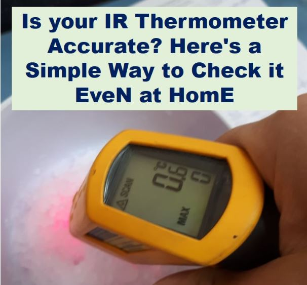 How to Verify the Accuracy of Your IR Thermometer Using an Ice Bath- IR Thermometer Calibration Procedure