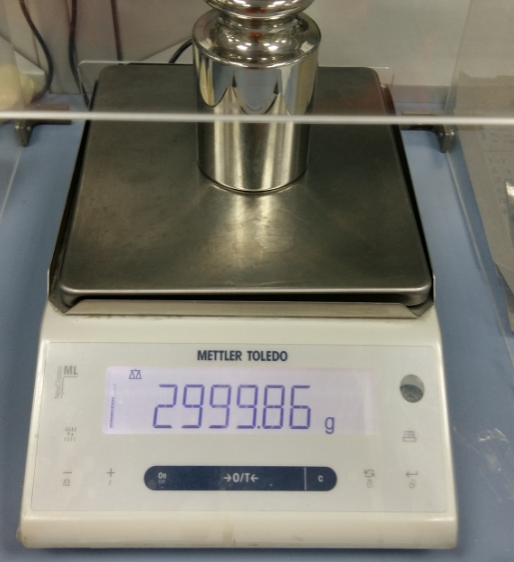 Weighing scale verification -initial verification to determine 'error close to max'
