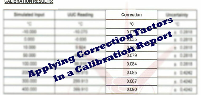 Simple Ways to Apply Correction Factors In a Calibration Certificate-If the Exact Value You Need Is Not Given